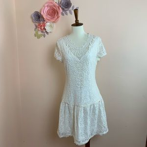 GUESS LOS ANGELES Lace Off White Dress